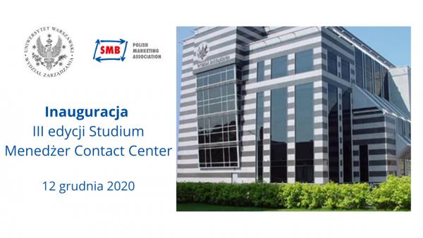 Inauguracja III edycji Studium Menedżer Contact Center.
