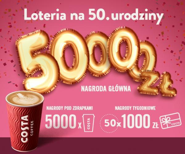 UNIQUE ONE prowadzi loterię dla Costa Coffee